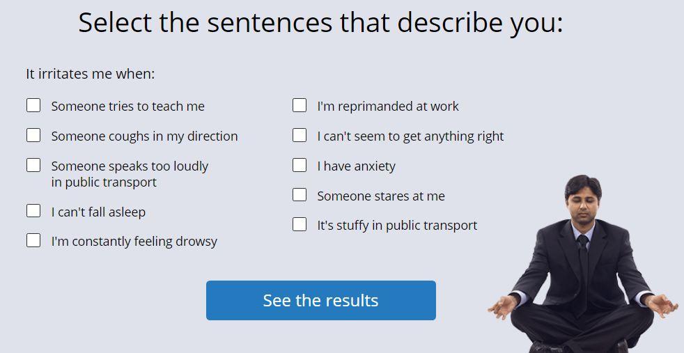 Select the sentences that describe you